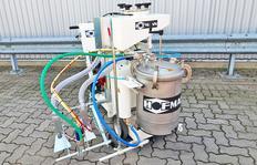 H9 Airspray con dos depósitos de esferas presurizados con 21 l y 15 l capacidad a max. 1,0 bar