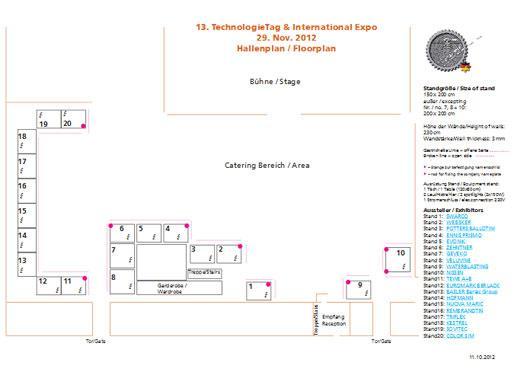HOFMANN TechnologieTag Ausstellerplan 2012