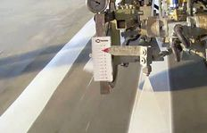 Line width stabilizer - low marking speed - low paint pressure - pointer (spray gun) at the top