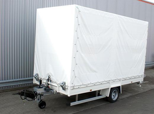 6000HG Remolque de transporte de un eje con neumáticos gemelos, para el transporte de máquinas de tamaño mediano, p. ej., una H18/RM3D o una caldera