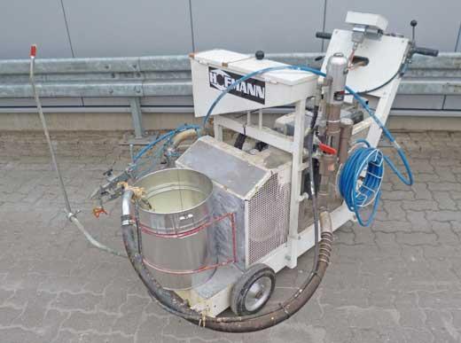 ngebot 4440125: H9-1 Airless HOFMANN Straßenmarkierungsmaschine für Kaltfarben