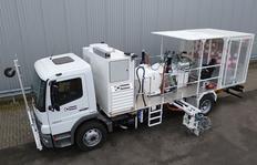H36-1000P con depósitos presurizados (2x540l) para pinturas en frío para el procedimiento Airless