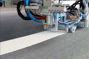 2-component cold plastic - Closed mixing and application unit for plain markings