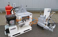 ID100 with propane gas burner, 3,1 kw power station and H75/25 for sprayable thermoplastics