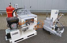 ID100 con quemador de gas propano, 3,1 kw estacíon energética y H75/25 para pinturas plásticas proyectables