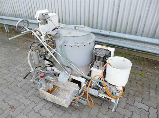 Offer 4440114: RP100-1H HOFMANN Road Marking machine for thermoplastics with screed-box 10-30 cm