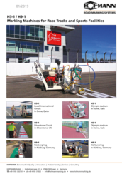 H5-1 / H9-1 Marking Machines for Race Tracks and Sports Facilities