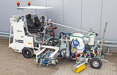 H18 sistema bomba de fuelle (460 l) con sistema Spotflex® y cilindro de punta, M98:2 y dispersor de esferas eléctrico