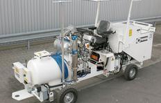 H16 con depósito presurizado (225 l) y bomba para procedimiento Airless con 7 l/min. rendimiento de la bomba