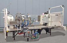 H37-500P con depósito presurizado (460 l) para pinturas plásticas en frío pulverizables de 2 componentes (Airless), M98:2