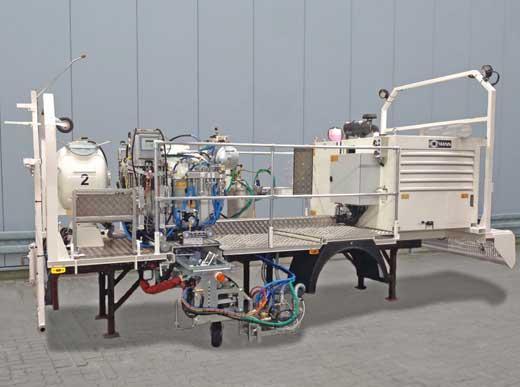 H37-500P avec réservoir sous pression (460 l) pour l'enduits à froid pulvérisés de 2-composants (Airless), M98:2