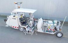 H33 para procedimiento Airless con bomba servo-hidráulica (AMAKOS<sup>®</sup>) con depósito presurizado (540 l) y con depósito de esferas adicional 600 l (en total 900 l de esferas)
