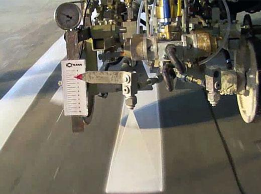 Устройство обеспечения постоянной ширины штриха - низкая скорость движения