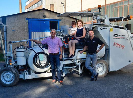 H26-4 spritzbare Kaltplastik ZTV M 13 Veranstaltung in Schönborn, Deutschland