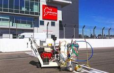 H9 trabajando en el circuito de Nürburgring en Nürburg / Alemania