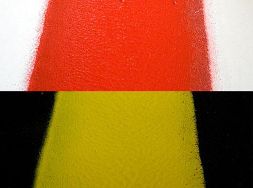 H33 in Hamburg/Deutschland mit 1K-Kaltfarben Airless System mit 5 Airlesspumpen, 1 x 460 ltr und 2 x 220 ltr sowie 2 x 110 ltr Druckbehälter für den Einsatz mit 90 cm Breitstrichmarkeur mit 4 Farbpistolen sowie weiteren 12 Farbpistolen für die Farben