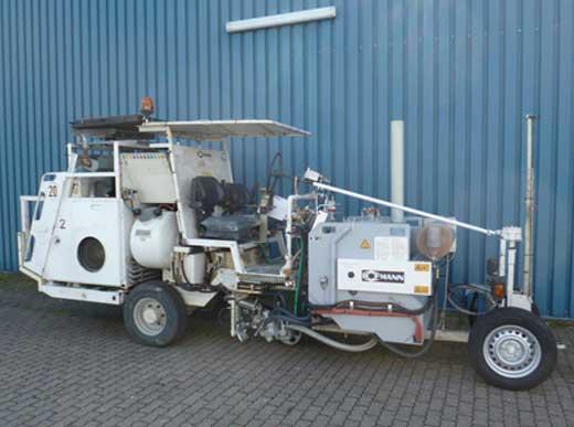 Angebot: H26-2 HOFMANN Straßenmarkierungsmaschine für spritzbare Thermoplastiken