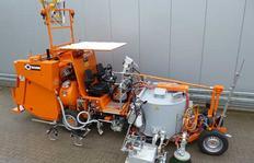 H33 máquina de multiuso con depósito presurizado (600l) para termoplásticos pulverizables y termoplásticos para aplicación por zapatón así como construcción especial de depósitos de esferas presurizados (2 x 150l)