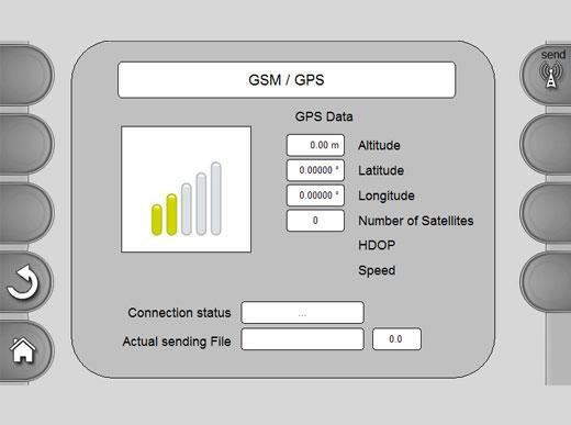 MALCON4 Exportation des données possible via PDA, clé USB ou sur un module GPS/GSM pour établir des attestations de marquage et d'épaisseur
