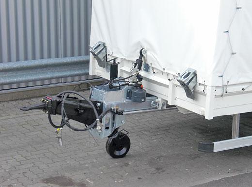 6000HG Одноосный транспортный прицеп с двойными шинами, для транспортировки машин дорожной разметки среднего размера, например, для H18/RM3D или автоклава