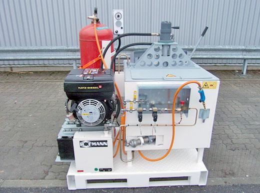 ID100 with propane gas burner, 3.1 kW power station