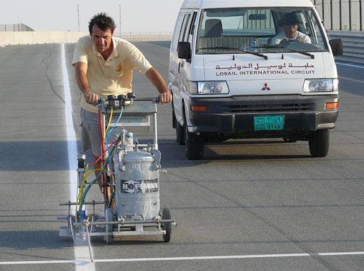 H5-1 en opération au Moto GP International Circuit à Doha / le Qata