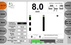 MALCON4 Einstellung der über die Joysticks auswählbaren Linien- und Zykluslängen