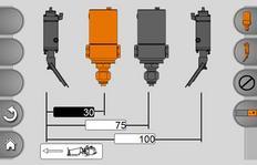 MALCON4 Ansteuerung von bis zu vier hintereinander angeordneten Markierungseinheiten, wie z.B. Farb- und Perlpistolen oder Extruderklappen