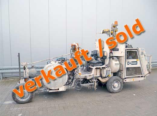 H26-2 Straßenmarkierungsmaschine für Kaltfarben mit Druckbehälter