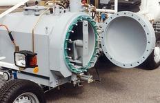 H26/H33 con depósito presurizado (300l), una pared del depósito desmontable para fácil limpieza