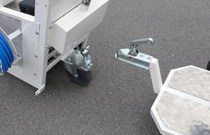 H9 trailer with driver seat with adjustable sitting position and pneumatic tires