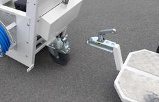 H9 remolque con asientocon posición del asiento ajustable y ruedas neumáticas