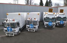"""""""Paquete todo inlcuído"""": Camiónes de transporte para una H33-3 cada uno y camiones de suministro con dos calderas del tipo ID1100-1 cada uno con suministro directo del camión – sin estación energética equipado con sistema de pre-marcado"""