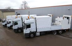"""All-inclusive-package"": Transport trucks for one H33-3 each and supply trucks with two preheaters type ID1100-1 with direct supply from the truck – without power station equipped with premarking unit"