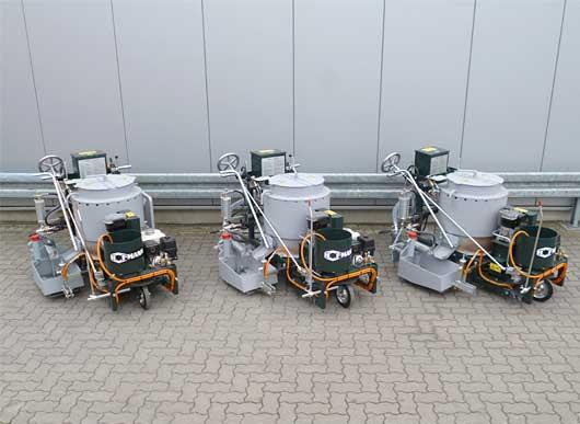 RP100-1H with screed box, 30 cm