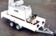 HK1000 with propane gas burner, 3,1 kW power station, on trailer type 3000HG
