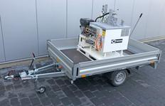 1300HGH with ID100 incl. propane gas burner, 3,1 kW hydraulic unit