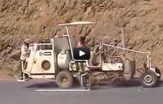 H33-2 - Распыляемые термопластики - бак под давлением (300л) - газовый обогрев - Пистолет для стеклошариков - Yemen