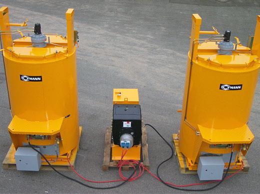 Dos ID810 con quemador de gasoil, estación de energía de 10kW