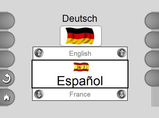 MALCON4 Disponibilidad de software estándar de 13 idiomas que se puede conmutar fácilmente