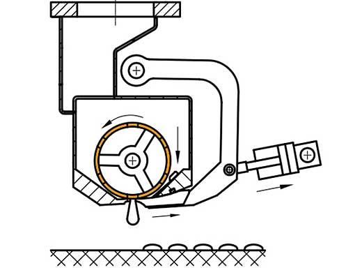 Realización de señalizaciones perfiladas (MultiDotLine<sup>®</sup>) con el rodillo bajado