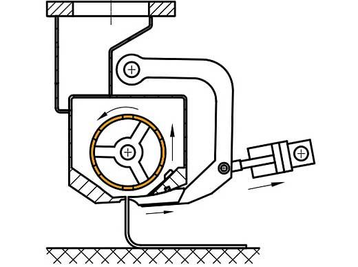Ausführung von Glattstrichmarkierungen bei angehobener Walze