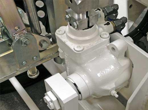 Mecanismo de dirección mécanico sustentado hidraulicamente para H26-3/H33-3