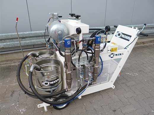Offer 4440123: H9-1 Airless 2c M1:1 HOFMANN Road Marking Machine for sprayable 2-component cold plastics and cold paints